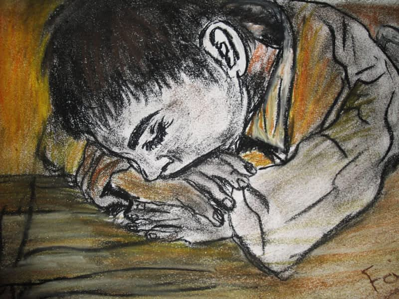 Afghan boy sleeping